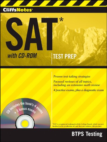 9781118057599: CliffsNotes SAT with CD-ROM