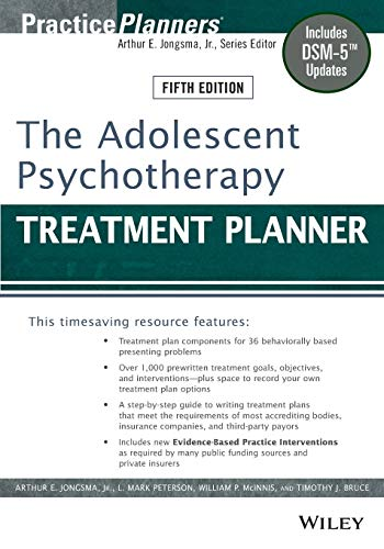 9781118067840: The Adolescent Psychotherapy Treatment Planner: Includes DSM-5 Updates