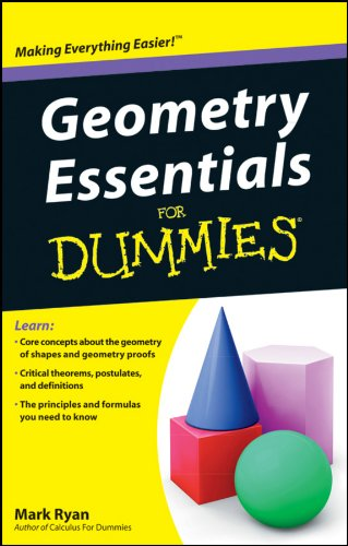 Geometry Essentials For Dummies (9781118068755) by Mark Ryan