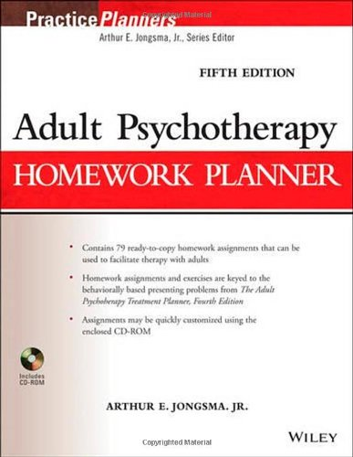 9781118076729: Adult Psychotherapy Homework Planner (PracticePlanners)