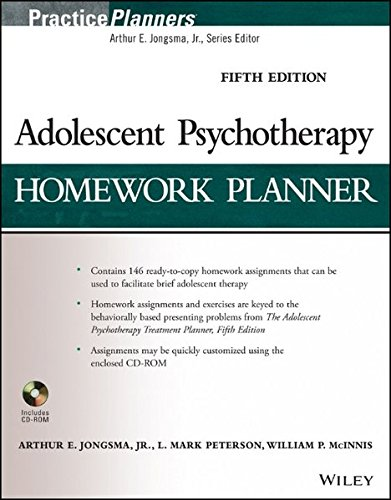 9781118076736: Adolescent Psychotherapy Homework Planner (PracticePlanners)