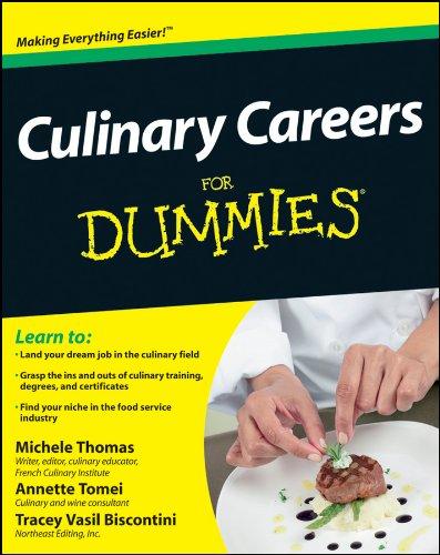 9781118077740: Culinary Careers For Dummies