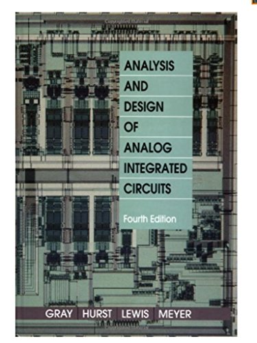 9781118078891: Analysis and Design of Analog Integrated Circuits
