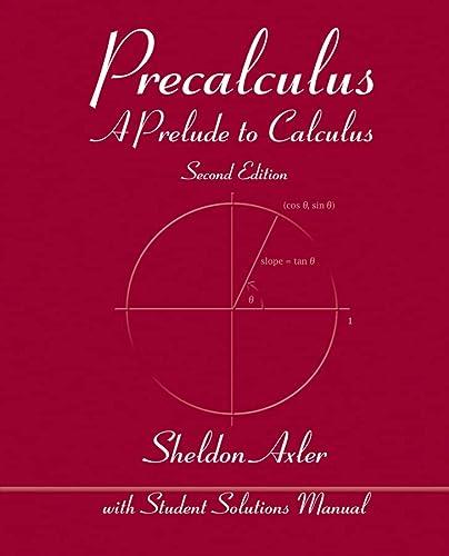 9781118083765: Precalculus: A Prelude to Calculus
