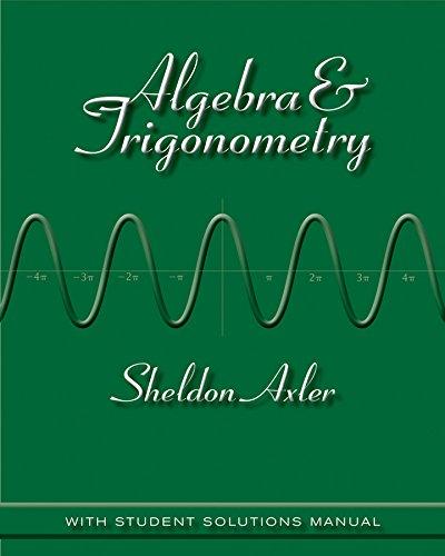 9781118088418: Algebra and Trigonometry 1e + WileyPLUS Registration Card