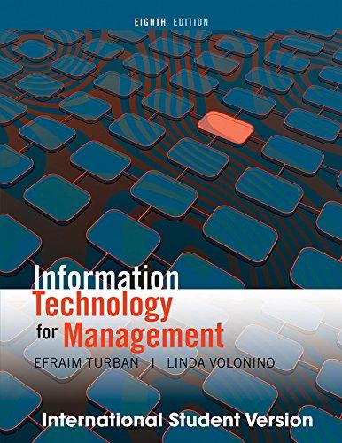 Information Technology Management: Volonino, Linda, Turban,