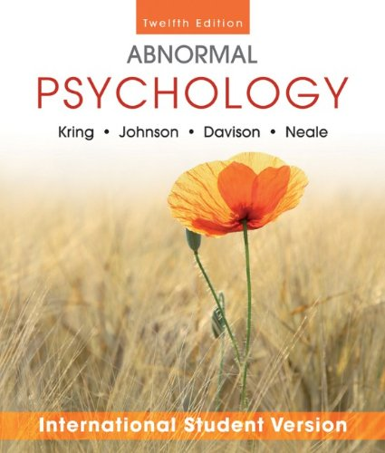 9781118092415: Abnormal Psychology Twelfth Edition International Student Version