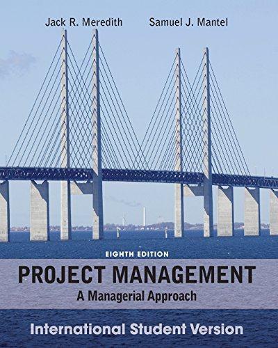 9781118093733: Project Management: A Managerial Approach, International Student Version, 8