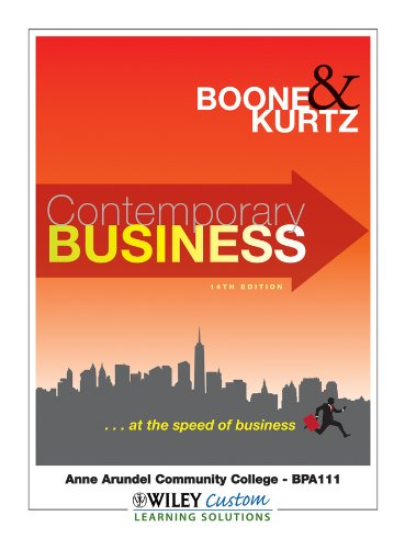 9781118104453: Contemporary Business 14th Edition for Anne Arundel Community College