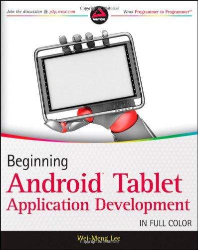 9781118106730: Beginning Android Tablet Application Development