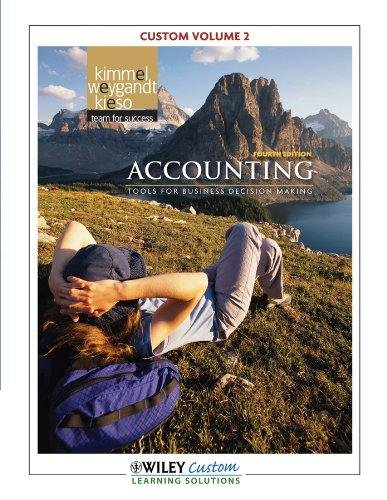 9781118123287: Accounting Tools for business decision making 4th edition Volume 1 for Manchester community college.