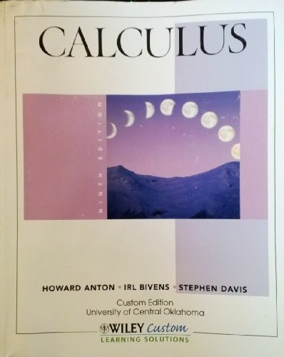 9781118128541: Calculus (Custom Edition University of Central Oklahoma)