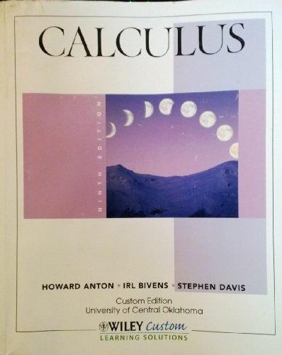 9781118128541: Calculus (Custom Edition University of Central Oklahoma)