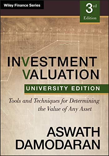 9781118130735: Investment Valuation: Tools and Techniques for Determining the Value of any Asset, University Edition
