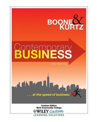 9781118132968: Contemporary Business 14th Edition ... at the speed of business (Custom Edition Mott Community College