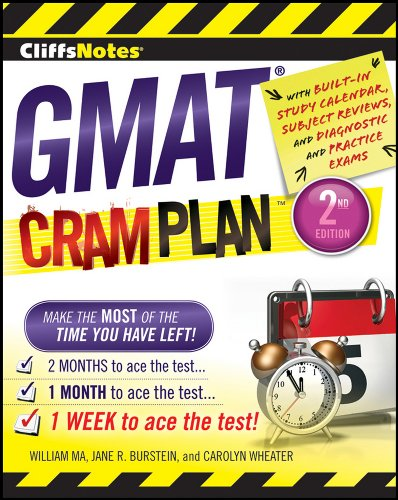 Stock image for CliffsNotes GMAT Cram Plan, 2nd Edition (Cliffsnotes Cram Plan) for sale by OwlsBooks