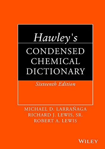 9781118135150: Hawley's Condensed Chemical Dictionary