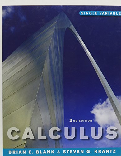 Calculus: Single Variable 2nd Edition (Chs 1-8) and WileyPLUS Combo Set: Blank, Brian E.