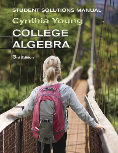 9781118137574: College Algebra, Student Solutions Manual, 3rd Edition