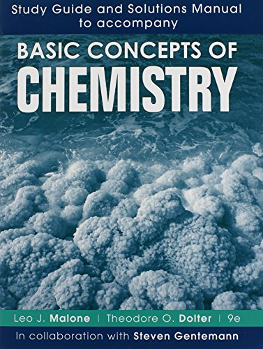 9781118156438: Study Guide and Solutions Manual to accompany Basic Concepts of Chemistry 9e