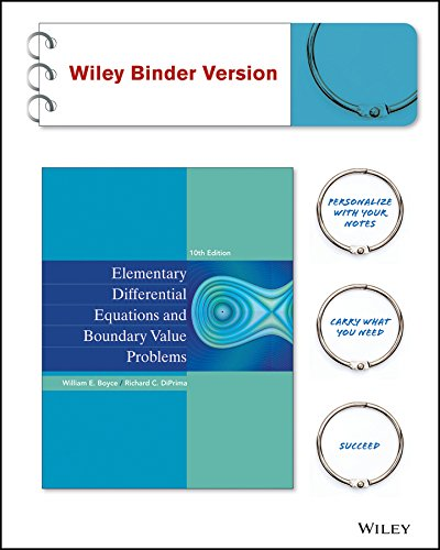 Elementary Differential Equations and Boundary Value Problems: Boyce