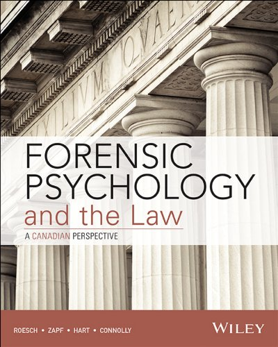 9781118161753: Forensic Psychology and the Law, Canadian Edition