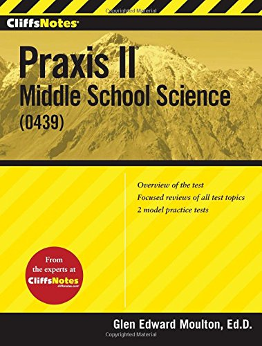 9781118163979: CliffsNotes Praxis II: Middle School Science (0439) (CliffsNotes (Paperback))