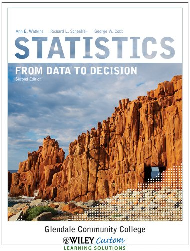 9781118168073: Statistics From Data to Decision 2E for Glendale Community College