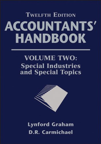 9781118171813: Accountants' Handbook, Special Industries and Special Topics