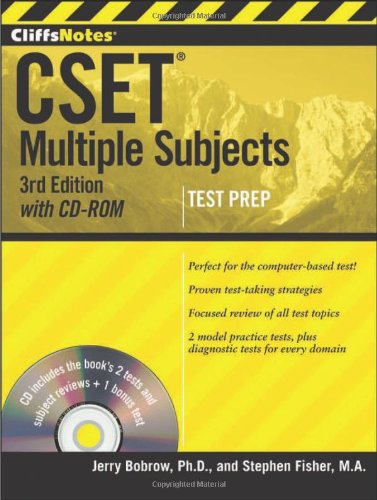9781118176535: CliffsNotes CSET: Multiple Subjects with CD-ROM, 3rd Edition