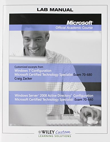 9781118185414: Lab Manual Microsoft Official Academic Course