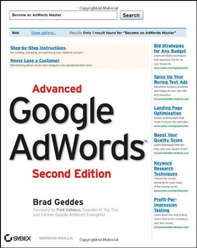 9781118194508: Advanced Google AdWords