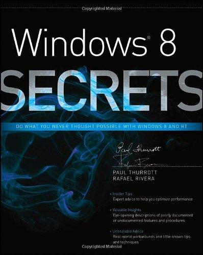 9781118204139: Windows 8 Secrets