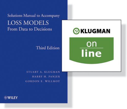 9781118211168: Loss Models: From Data to Decisions, 3rd Edition Solutions Manual + (One Year Online): Preparation for Actuarial Exam C/4 Wrapper Set (Wiley Series in Probability and Statistics)