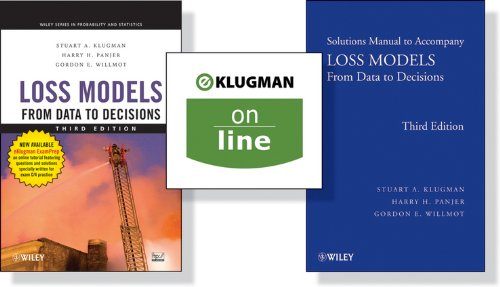 9781118211199: Loss Models: From Data to Decisions + Solutions Manual + (one Year Online): Preparation for Actuarial Exam C/4 Wrapper Set (Wiley Series in Probability and Statistics)
