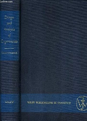 9781118214718: The Design and Analysis of Experiments