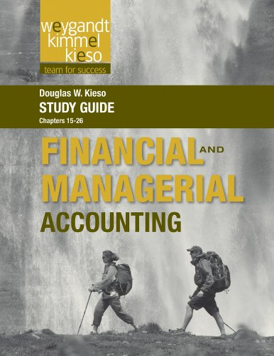 9781118233412: Study Guide to accompany Weygandt Financial and Managerial, Volume 2