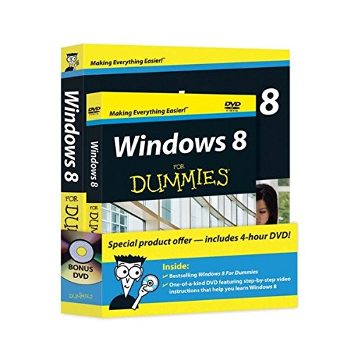 9781118271674: Windows 8 For Dummies, Book + DVD Bundle