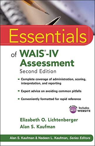 9781118271889: Essentials of WAIS-IV Assessment