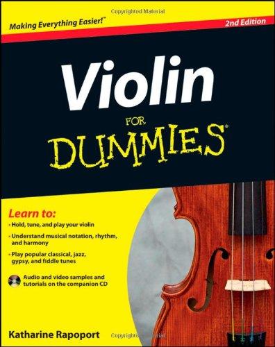 Violin For Dummies, 2nd Edition: Rapoport, Katharine