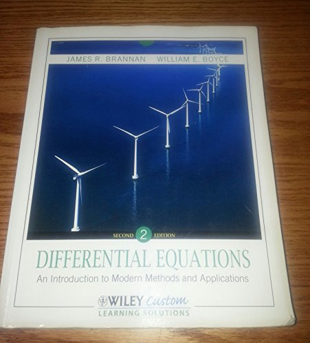 9781118291467: Differential Equations: An Introduction to Modern Methods and Applications, 2nd Edition