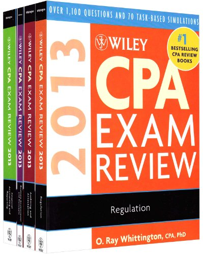 9781118299821: Wiley CPA Exam Review 2013, Set