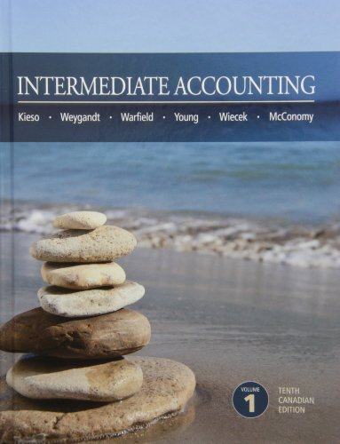 Intermediate Accounting 10th Canadian Edition Volume 1: n/a