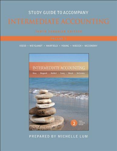9781118300879: Study Guide to accompany Intermediate Accounting