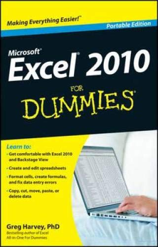 9781118315248: Excel 2010 for Dummies: Portable Edition