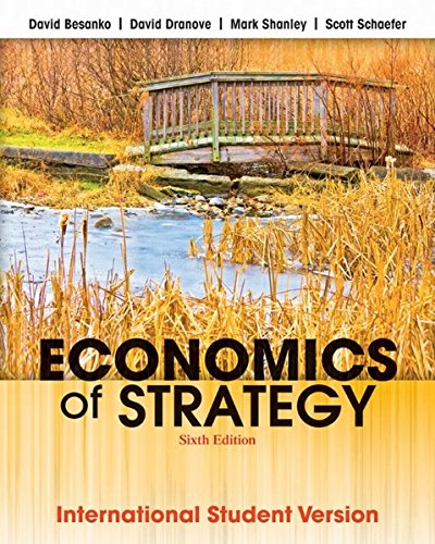 9781118319185: Economics of Strategy: International Student Version