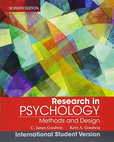 9781118322628: Research in Psychology: Methods and Design