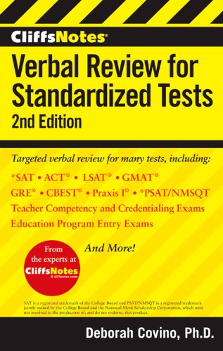 9781118334256: CliffsNotes Verbal Review for Standardized Tests, 2nd Edition (CliffsNotes (Paperback))