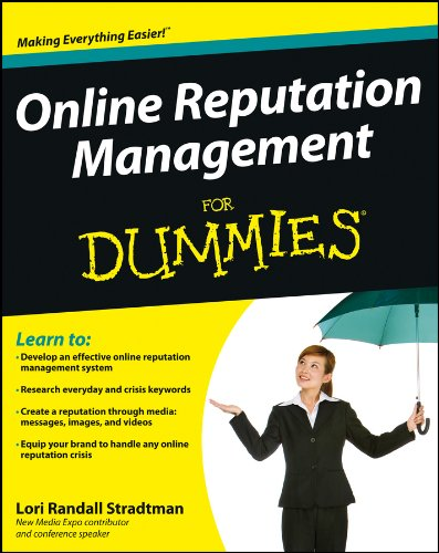 Online Reputation Management For Dummies 9781118338599 More important than ever--how to manage your online reputation In today's social world, managing your online reputation is more critical than ever, whether it's your company brand or yourself as a brand, and one thing is certain: everyone needs a plan. This essential book shows you how to set up a system that works every day, helps forward your brand's online goals, and is able to deal with negative chatter. Covering everyday listening and messaging as well as reputation management for special events or crises, this book walks you through step-by-step instructions and tips that will help you build and maintain a positive online presence. Shows you how to create a solid, productive online reputation management system Helps you achieve your brand's goals and be ready to deal with negative chatter or crises Explains how to set up an online reputation management and response team Covers how to identify and incorporate both everyday and crisis SEO keywords Explores reputation creation through listening, messages, images, video, and other media Helps you handle crises with social media, bloggers, and other influencers, and respond immediately Online Reputation Management For Dummies gives you the tools you need to maintain the online reputation you want.
