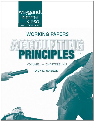9781118342237: Working Papers Volume 1 (Chapters 1-12) to accompany Accounting Principles, 11e